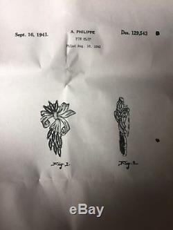 Vintage Breathtaking Trifari Alfred Philippe Floral Bow Rhinestones Brooch Pin