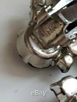 Vintage Brooch High-end Rhinestone Prong Brooch Earrings Sets Lot AS FOUND! AB