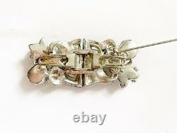 Vintage CORO DUETTE Enamel Flower Brooch, Ca. 1940