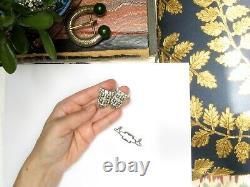 Vintage CORO DUETTE Rhinestone BROOCH Dress Clips Art Deco 1930s Pin Convertible