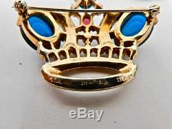 Vintage CROWN TRIFARI Alfred Philippe Jewels of India Crown Brooch Earrings