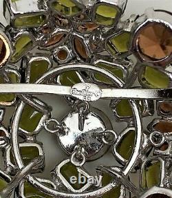 Vintage Christian Dior Henkel & Grosse 1959 Rhinestones Dome Pin Brooch