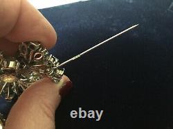 Vintage Christian Dior Rhinestone Brooch