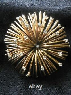 Vintage Ciro Starburst/Fireworks Gold Plated Brooch/Pin Excellent Condition