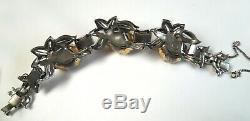 Vintage Coro Trembler Quivering Camelias Bracelet + Duette Clip / Brooch Set