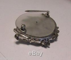 Vintage Dujay Enamel Rhinestone Fish Brooch Pin RARE 1940 Figural Collector Pc