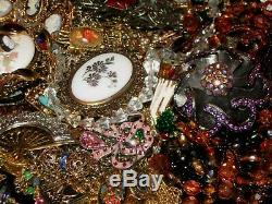 Vintage Estate Mixed Victorian Jewelry Lot Cameo Locket Ab Rs Brooch Pell Art Sc