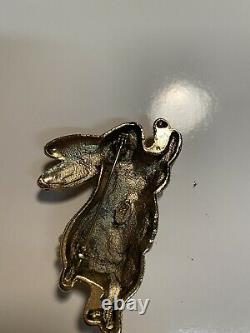 Vintage Estate Signed Weiss Easter Bunny Brooch Pin
