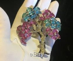 Vintage Extremely RARE Alfred Philippe Crown Trifari TREE Fur Clip Brooch