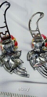 Vintage Gold Coro Duette Quivering Camelias Trembler Fur Clip Brooch Pin