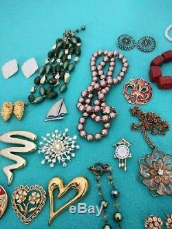 Vintage HIGH END Rhinestone BROOCH Necklace BRACELET Earring RING Lot 120+