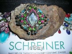 Vintage Henrey Schreiner Rare Ambros Couture Rhinestone Pin Brooch Estate Runway