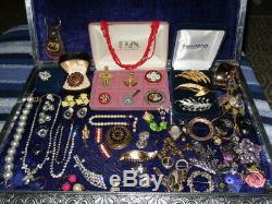 Vintage Jewelry Lot Rhinestones 925 Brooches Rings Weiss Kramer Coro Pegasus