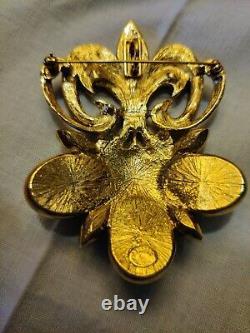 Vintage Jose Barrera for Avon Florentine Fleur De Lis Brooch Pendant