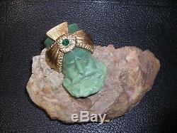 Vintage Joseff Of Hollywood Resin Turban Warrior King Rhinestone Brooch Pin
