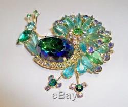 Vintage Juliana Peacock Brooch Blue/Green L@@K
