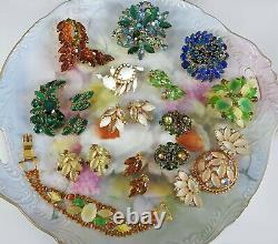 Vintage Juliana Rhinestone Jewelry Lot Set Pin Brooch