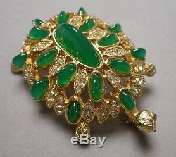 Vintage K. J. L. Kenneth Jay Lane Jeweled Rhinestone Turtle Tortoise Brooch Pin