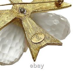 Vintage KJL Kenneth Jay Lane Rhinestone Lucite Crystal Maltese Cross Pin Brooch