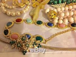Vintage Lot Of Rhinestone Jewelry Costume Brooches Necklaces Julianna Schreiner