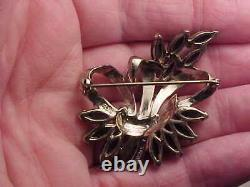 Vintage MB Boucher sterling silver floral pin / brooch