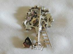Vintage Marcel Boucher Fruit Tree Brooch, Rare Collectable Signed Pin Pat. 3253