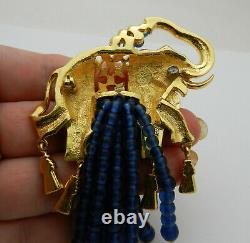 Vintage RARE exquisite ELIZABETH TAYLOR ELEPHANT WALK AVON Brooch Pin