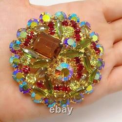Vintage Rare Runway Juliana Delizza Elster Rhinestone Brooch Pin Jewelry Lot B