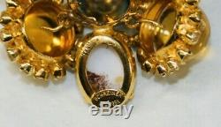 Vintage Signed Schreiner New York Huge Faux Pearl & Rhinestone Brooch/Pin