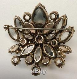 Vintage Signed Schreiner Rhinestone Brooch Pin