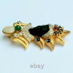 Vintage Stunning, Rare Jomaz Mazer Nubian Queen Blackamoor Unsigned Brooch Pin