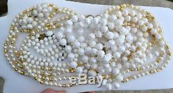 Vintage Summer White 39 Pc Lot Juliana Rhinestone Bracelet, Sets, Brooch, More