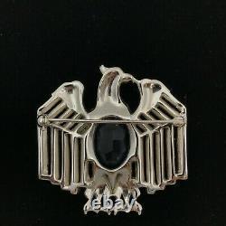Vintage Trifari Alfred Philippe Patriotic Rhinestone Eagle Brooch Pin