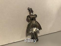 Vintage Trifari Fur Clip Brooch PIN HELEN Enamel Rhinestone 1939 Woman VERY RARE