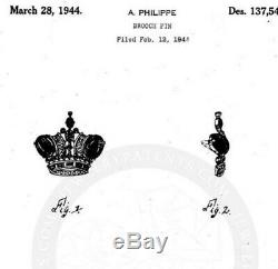 Vintage Trifari Sterling Silver Crown Brooch Pin /pat. Pend