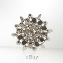 Vintage Weiss Crystal Rhinestone Brooch Pin Large 2.5