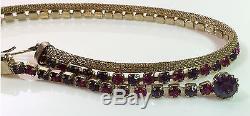 Vintage Weiss Grande Parure Rhinestone Necklace Bracelet Earring Brooch