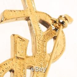 Vintage Yves Saint Laurent NWT New YSL Rhinestone Pin Brooch. NFV4614