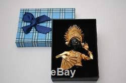 Vintage blackamoor dancer brooch pin Exotic jewelry 1950s