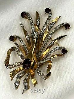 Vtg French Haute Couture Christian Dior Kramer Peacock Trembler Tremblant Brooch