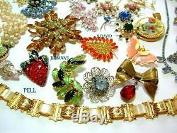 Vtg Hi Designer 46p Rhinestone Brooch Lot Juliana Pell Art B David Coro Set