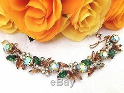 Vtg JULIANA Rhinestone Bib Necklace Bracelet Brooch Dinner & Lunch Earrings Set