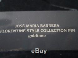 Vtg. Jose Maria Barrera Florentine Style Collectionfleur De Lis Broochnib