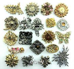 Vtg RHINESTONE Jewelry BROOCH LOT Weiss JULIANA Regency STANLEY HAGLER Sphinx