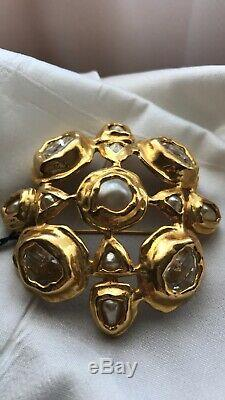 WOW! Exquisite Chanel Pearl & Rhinestone Brooch Vintage