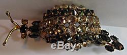 Wonderful Schreiner Vintage Crystal Rhinestone Dimensional Snail Pin Brooch